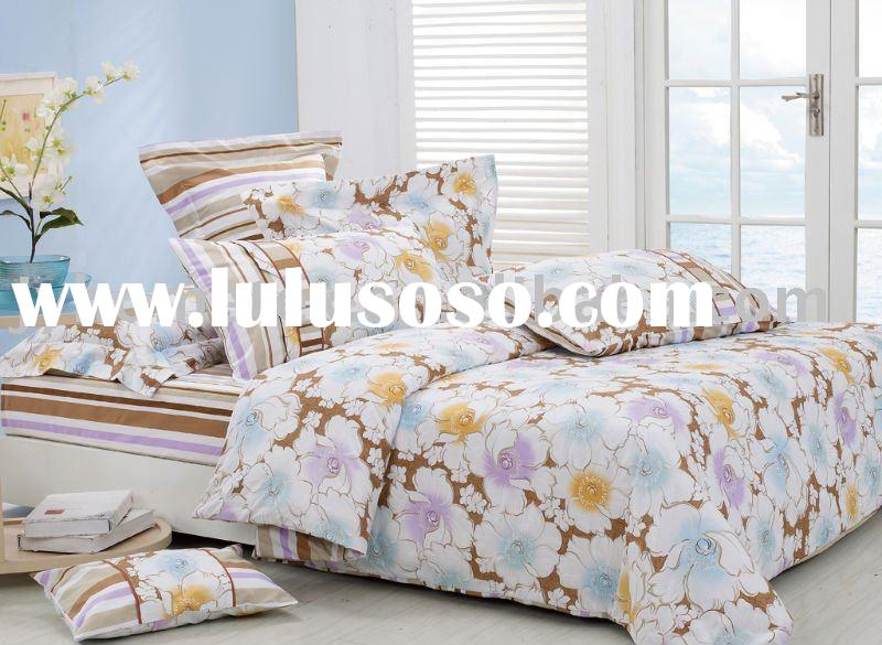 cotton pigment printing cheap price bed sheet
