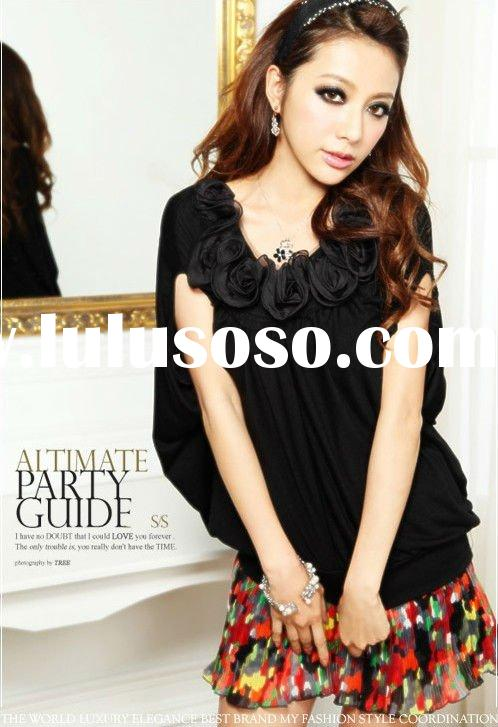 cute black sleeveless ladies lace blouse