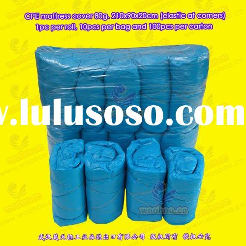disposable mattress cover (CPE mattress cover, PVC mattress cover)