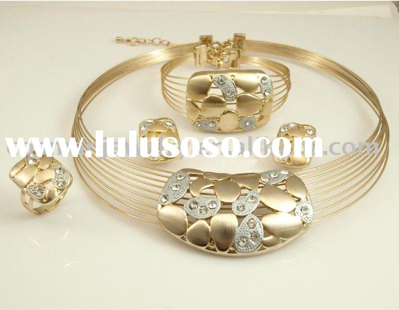 fashion alloy sets with cz stones(pendant,necklace ,earring)