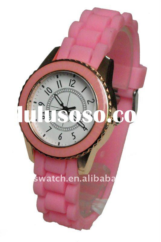 fashion geneva silicone hello kitty watch jelly silicone watch