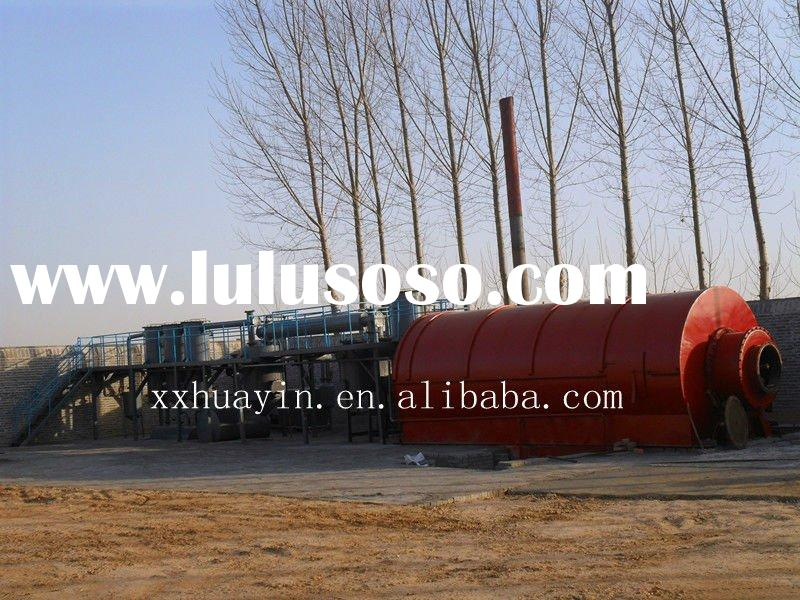 free pollution and high efficiency oil output recycling plant