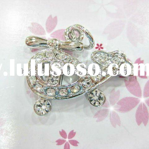 free shipping crystal helicopter plane charm for necklace bracelet earrings jewelry