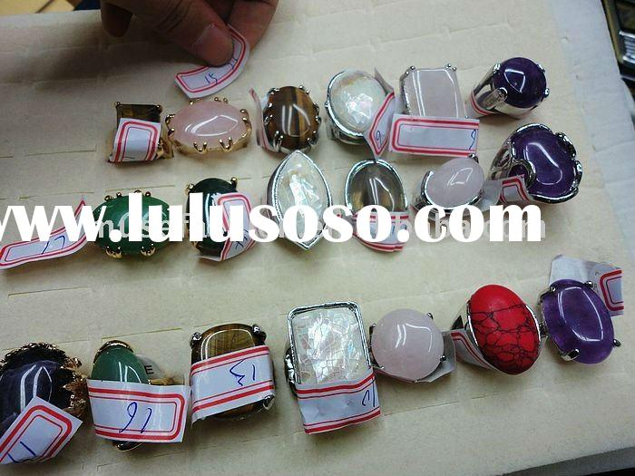 high quality natural stone wedding rings