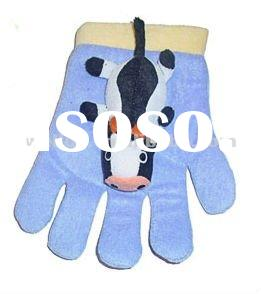 lovely cow baby shower bath gloves