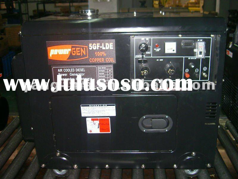 model 5GF-LDE3,portable air cooled diesel engine power silent generator 5KVA( at good price)