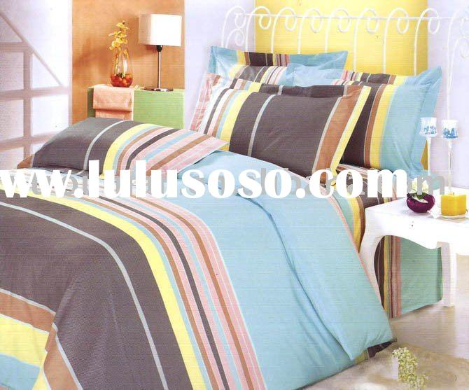 polyester/cotton home textiles bedsheets fitted sheets quilt cover set bedding set