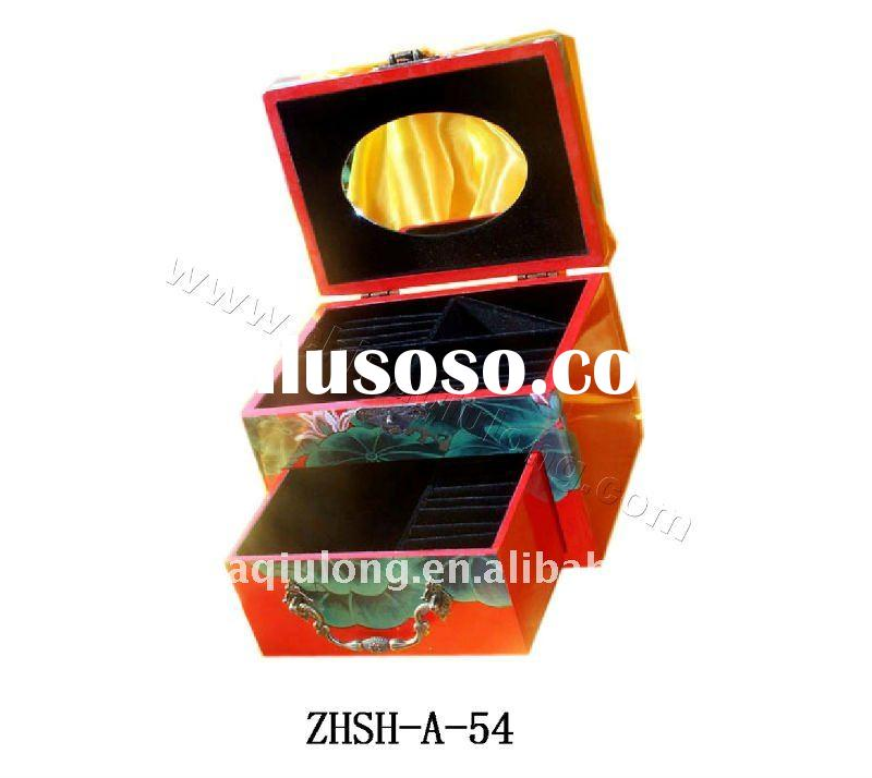 small exquisite wooden jewelry box as gift
