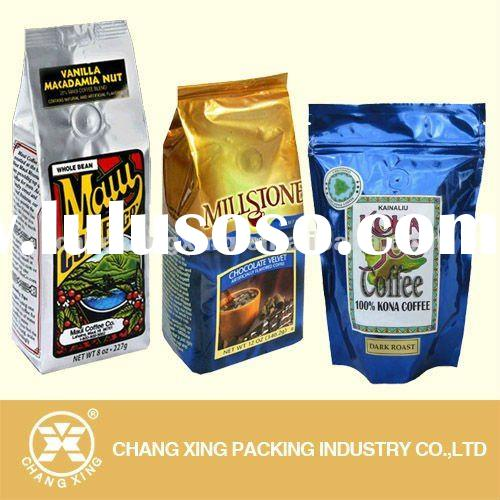 various types of laminted plastic valve coffee packaging bags manufacturer