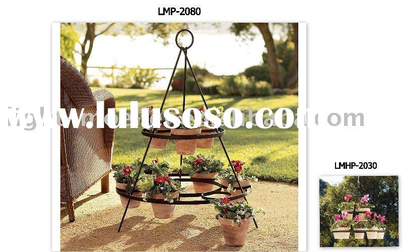 wrought iron flower pot holder