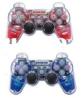 2.4GHz video game wireless joystick with built-in six led lights