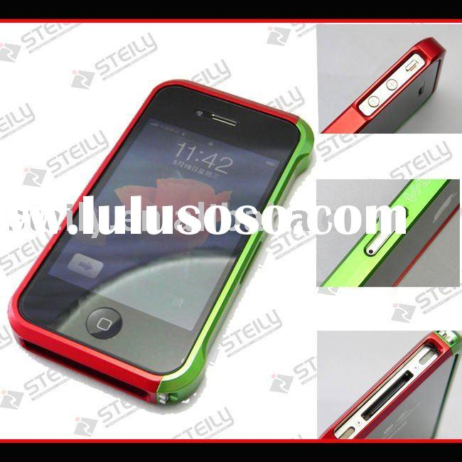 Aluminum frame vapor case cover for iphone 4