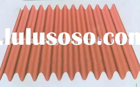 Corrugated roofing sheet metal plate