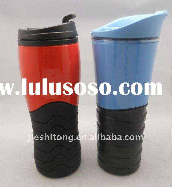 Double wall eco-friendly plastic travel mug for driver BPA free & FDA approved