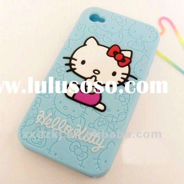 Hello kitty silicone case for iphone 4 (BMM0009)