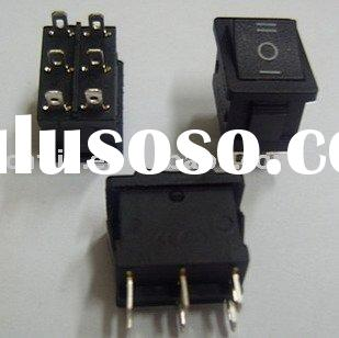 KCD1-203 Mini rocker switch on/off/on 6 pin