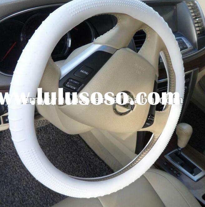 Luxurious auto car steering wheel cover