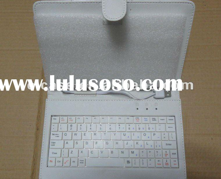 Wireless keyboard leather case for 7 inch tablet pc