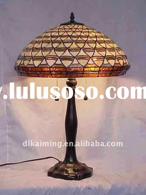 pearl style cover tiffany stained glass table lamp