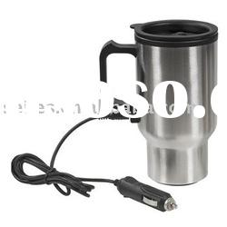 stainless steel inside and plastic outside usb electric auto mug car cup warmer