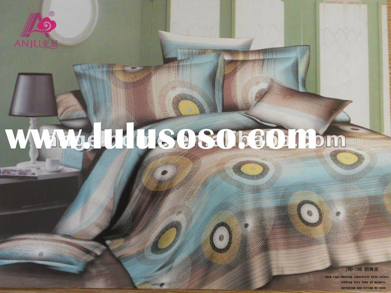 100% Cotton Custom Printed Bed Sheets