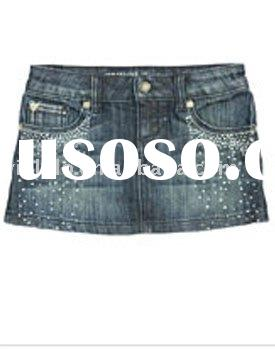 2011Newest fashion girl denim jeans skirt,washing jeans skirt