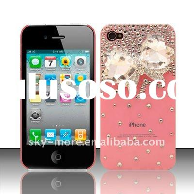 2011 new style designs rhinestone cell phone cases for iphone 4G