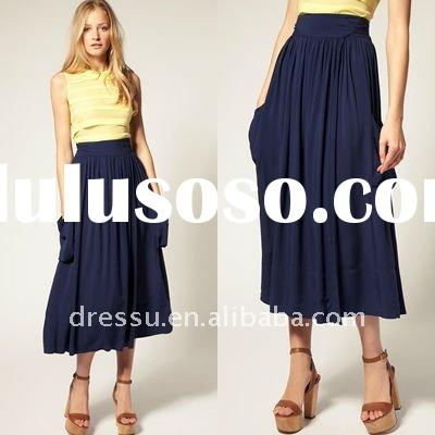 2012 Latest Skirt Design Pictures, Long Midi Skirts for Women