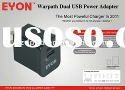 2.1A dual usb power adapter& travel charger &home charger for ipad2/Iphone/Samsung/Samsung g