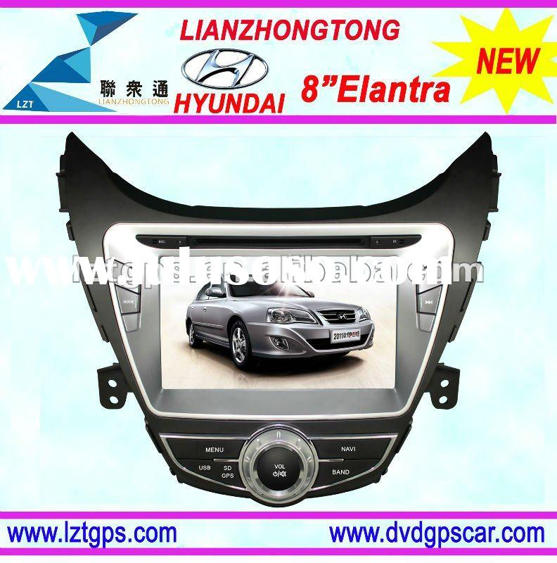 8 inch 2012 Elantra car dvd player with GPS,bluetooth,Ipod