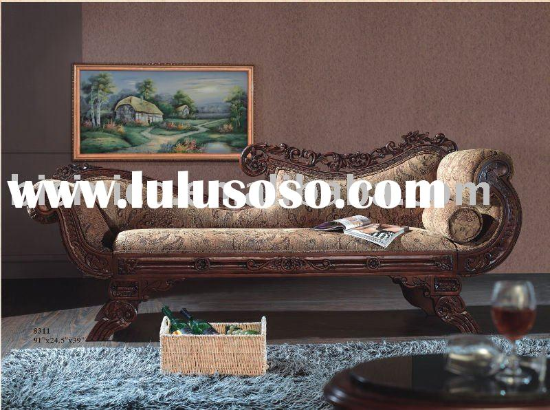 American reproduction living room leisure sofa,lounge sofa,solid wood antique home furniture