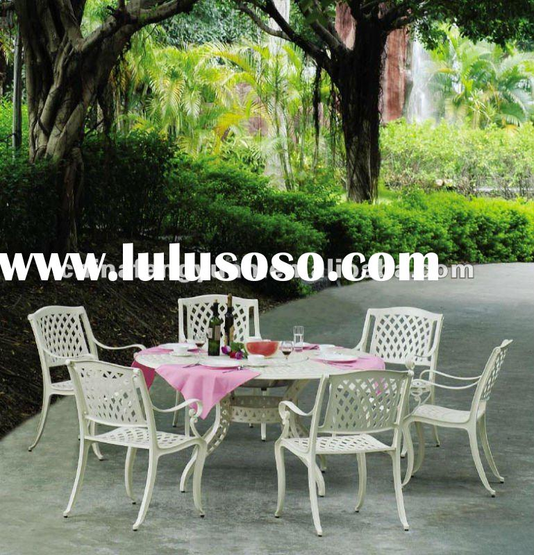 Antique metal outdoor furniture white, mesh alum metal garden chairs, outdoor furniture