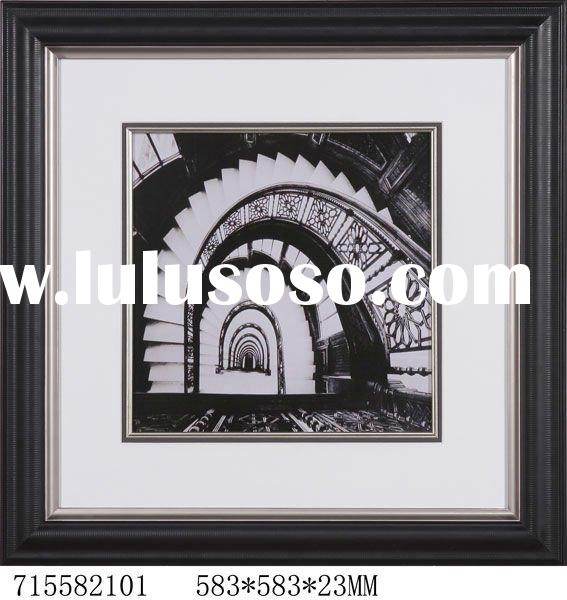 Black and White Spiral Stairs design Art Prints wall decoration