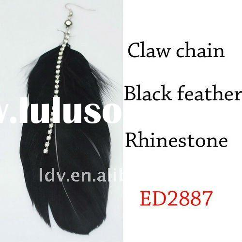 Black feather earrings stands for 2011&2012 Winter Fashion Trend
