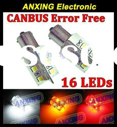 CANBUS Error Free P21W 1156 BA15S 16-SMD 5050 car LED light