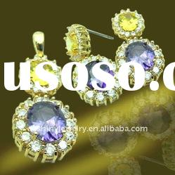 Chinese wholesale 925 sterling silver jewelry manufacturer,Cubic zirconia jewelry,sotne jewelry set