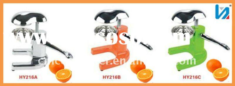 Colorful High Quality Zinc Alloy Stainless Steel Hand Juicer