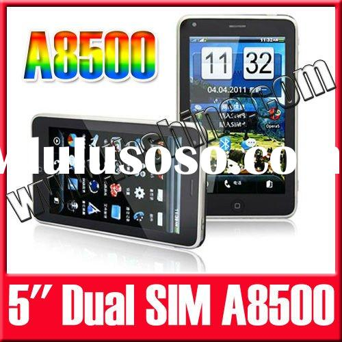 """Dual SIM Card 5.0"""" Android 2.2 Smart Cell Phone A8500 Capacitive Screen TV AGPS"""