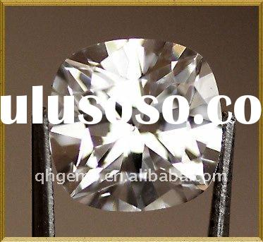 Fancy White Cushion Cut Cubic Zirconia Stone