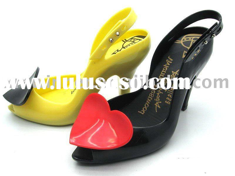 Fashion High Heel Lady Jelly shoes