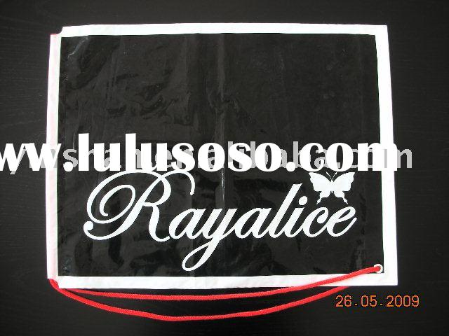 HDPE plastic shopping bag with rope
