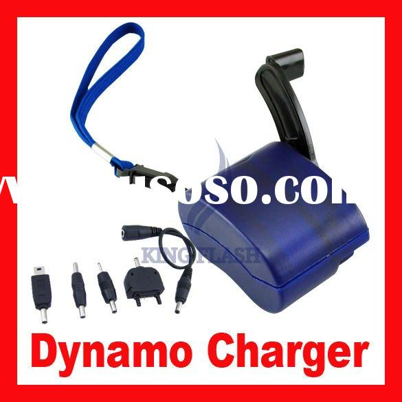 Hand Power Dynamo mobile phone emergency charger with flashlight