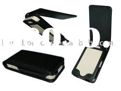 New BLACK LEATHER CASE COVER SKIN FOR APPLE IPHONE 4 4G