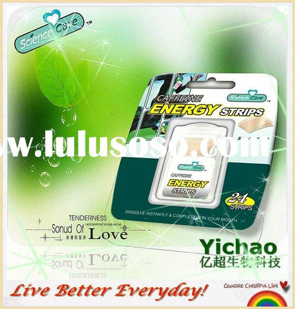 New Product 2012 Sugar Free Xylitol mints Caffeine Energy Breath Mint Strips
