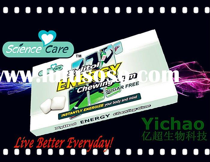 New Product 2012 Xylitol Gum Caffeine Energy Chewing Gum