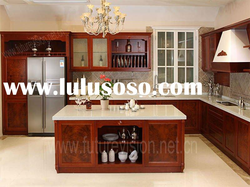 Newest RTA cherry wood kitchen cabinets design