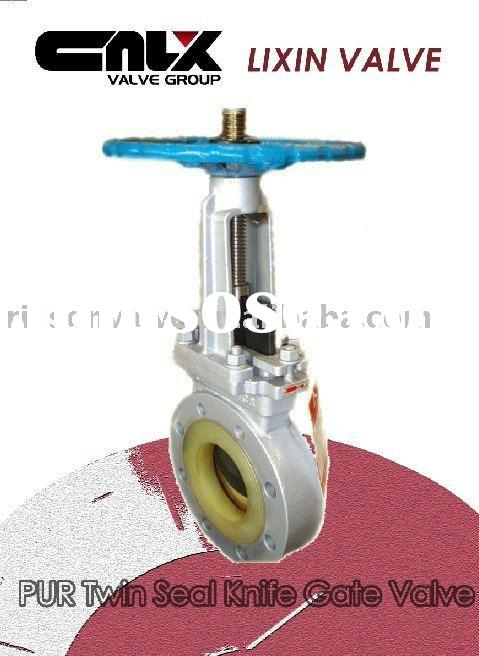 PUR Twin Seal Knife Gate Valve