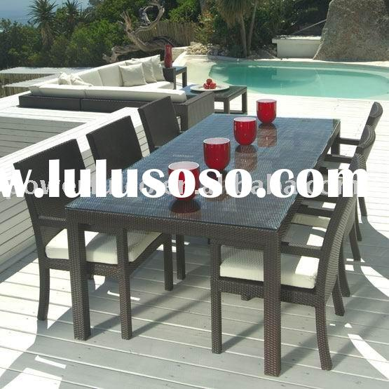 Polyrattan Resin Poly Plastic PE Rattan/Wicker Outdoor indoor Garden Patio Furniture Dining Table An
