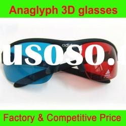 Red Cyan anaglyph 3D glasses with high level painting