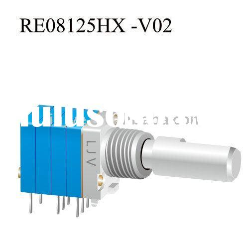Rotary encoder potentiometer switch for timer switch
